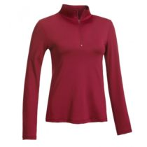 1:4 zip pullover_red