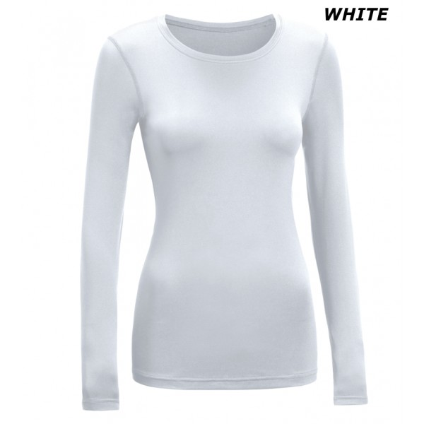 Long Sleeve Crew Base Layer_white
